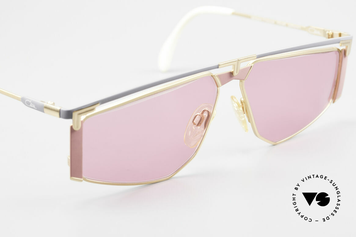 Cazal 235 Pink Titanium Vintage Frame, NO RETRO fashion, but a rare old 90s CAZAL ORIGINAL, Made for Men and Women