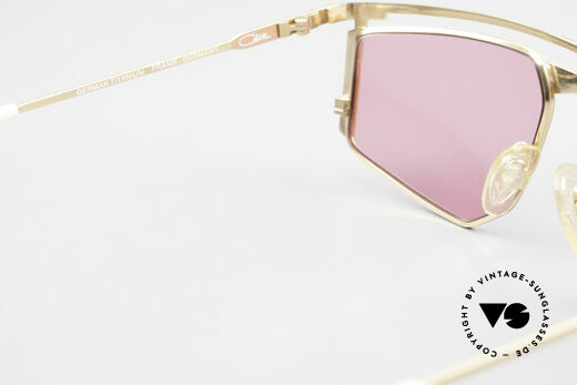 Cazal 235 Pink Titanium Vintage Frame, pink sun lenses (100% UV) could be replaced optionally, Made for Men and Women