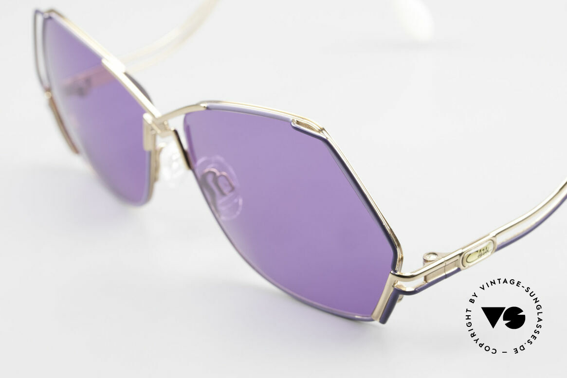 Cazal 226 Purple Vintage Ladies Shades, 80's frame (W.Germany), 90's frame (made in Germany), Made for Women