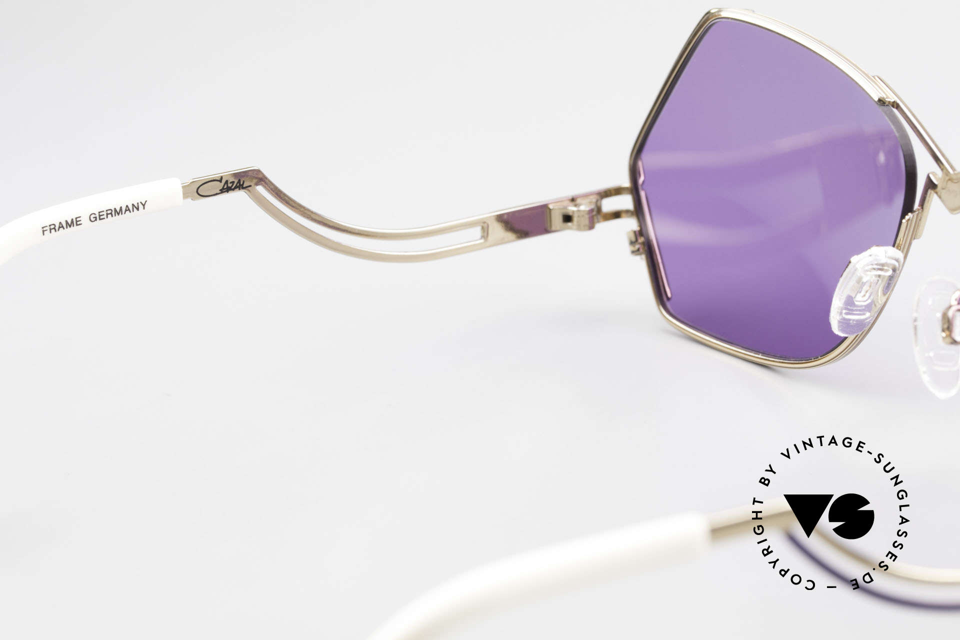 Cazal 226 Purple Vintage Ladies Shades, the sun lenses can be replaced with optical (sun) lenses, Made for Women