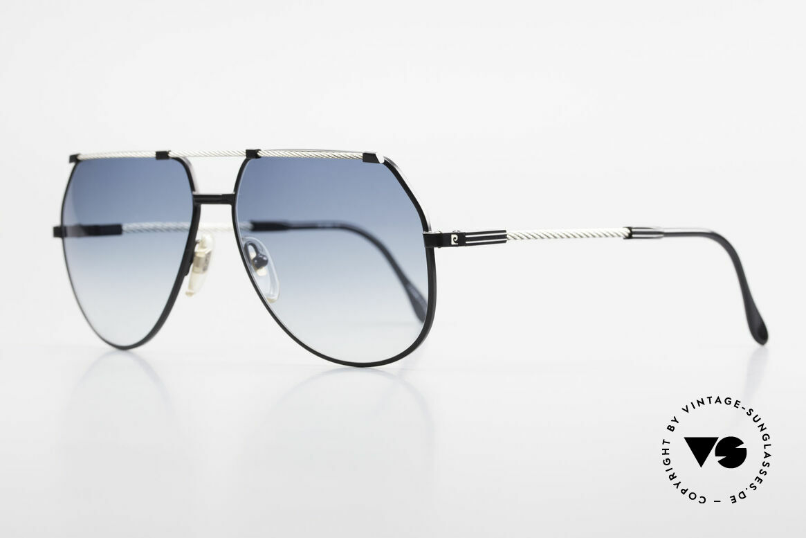 Pierre Cardin CP805 Old Vintage Sailing 80's Shades, temples & bridge are twisted like a hawser; size 62/15, Made for Men