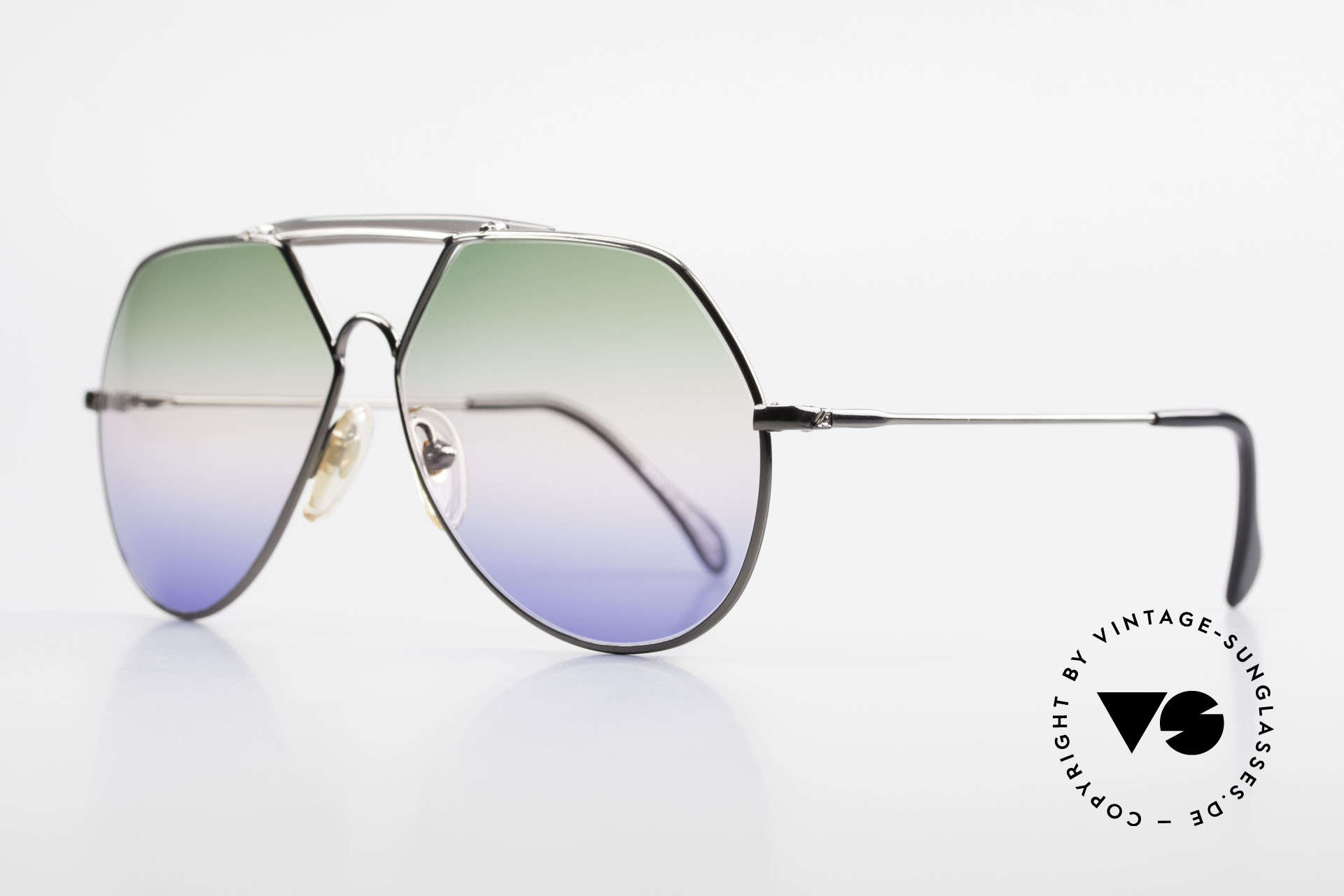 Alpina TR5 West Germany Aviator Frame, triple-gradient sun lenses (100% UV), eye-catcher, Made for Men
