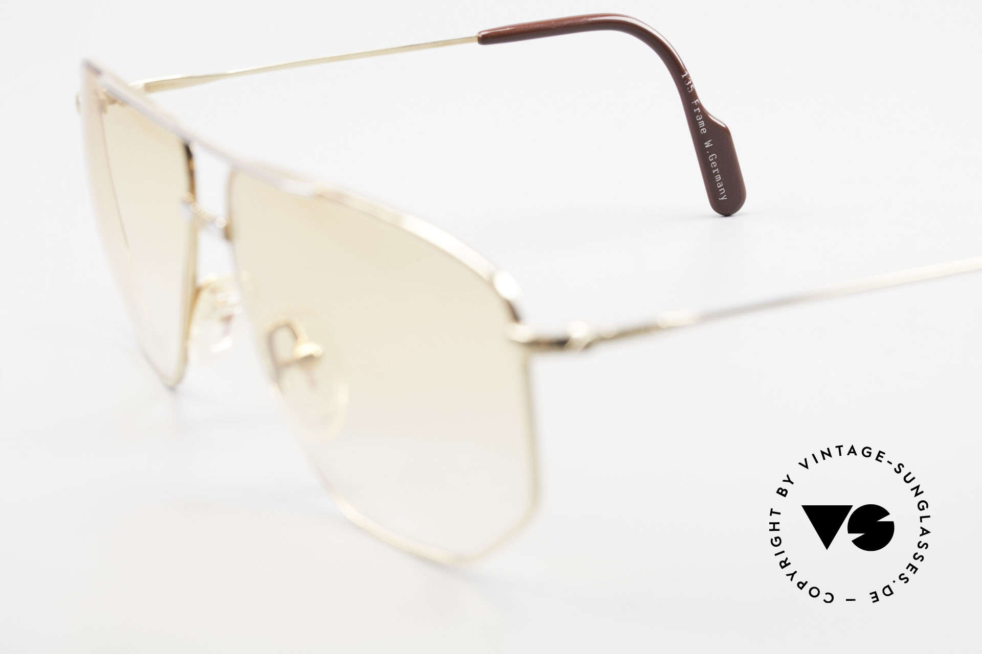 Alpina FM68 No Retro Glasses True Vintage, with orange-gradient sun lenses (could be worn at night), Made for Men