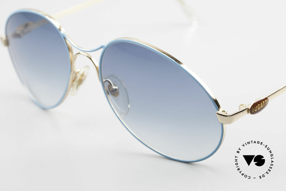 Bugatti 65985 No Retro Shades True Vintage, turquois-gradient lenses: 100% UV protection, Made for Men
