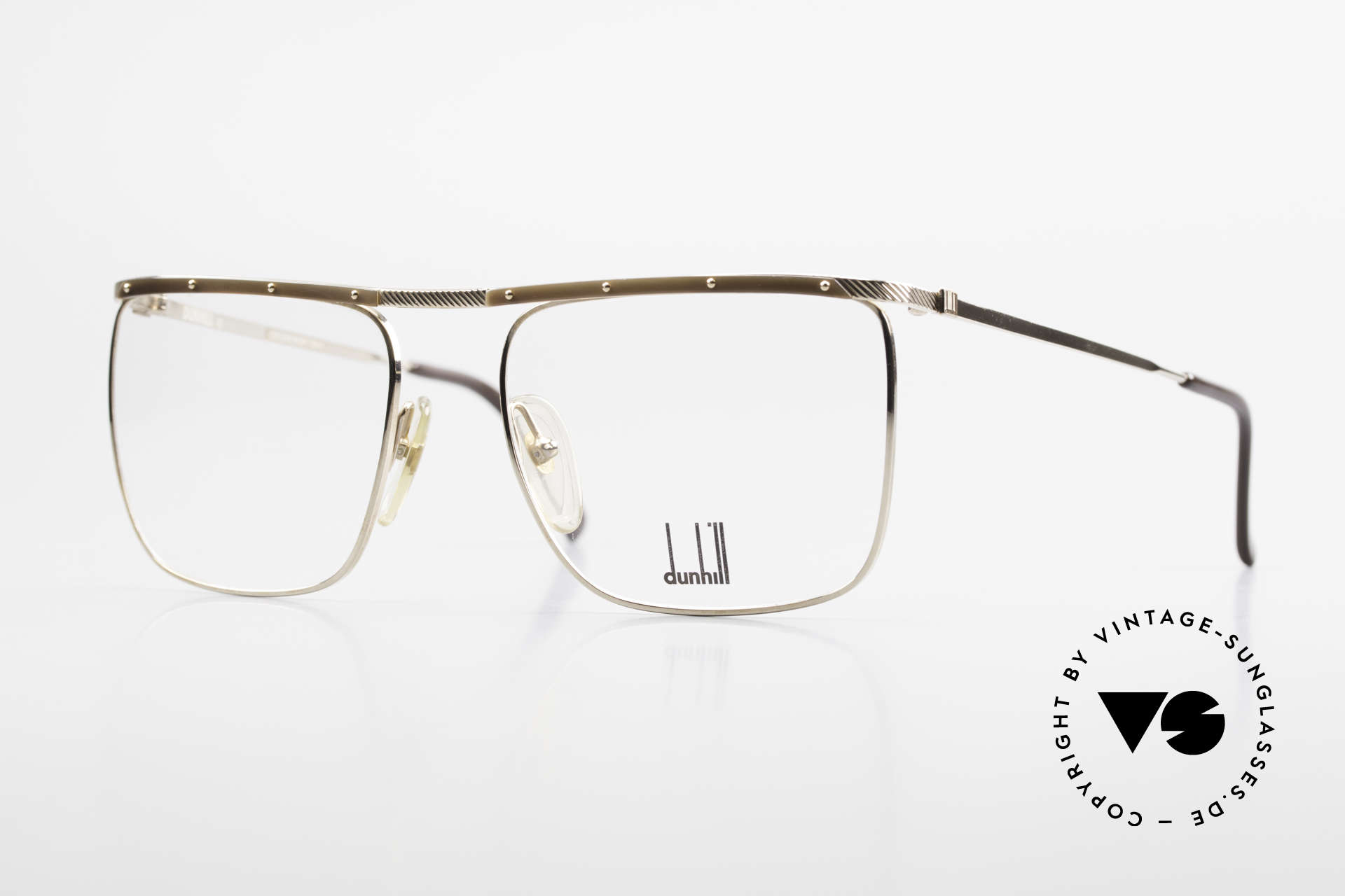 Dunhill 6056 Genuine Horn Trims 80's Frame, Alfred Dunhill luxury eyeglass-frame from 1988, Made for Men