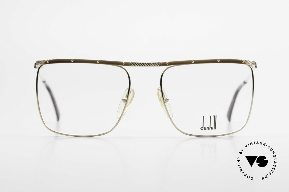 Dunhill 6056 Genuine Horn Trims 80's Frame, gold-plated frame with GENUINE HORN trims, Made for Men