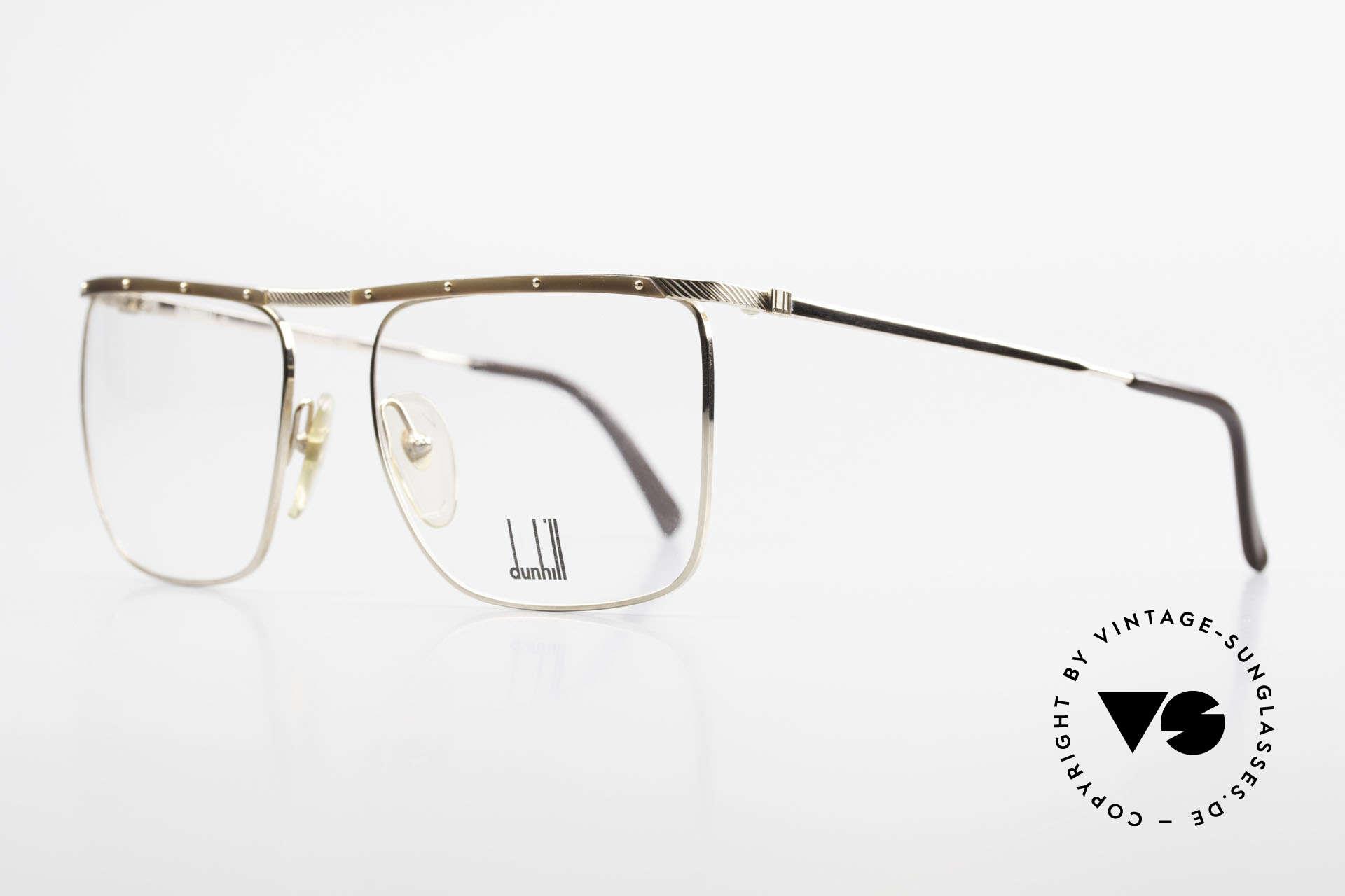 Dunhill 6056 Genuine Horn Trims 80's Frame, timeless, stylish design (real gentleman specs), Made for Men
