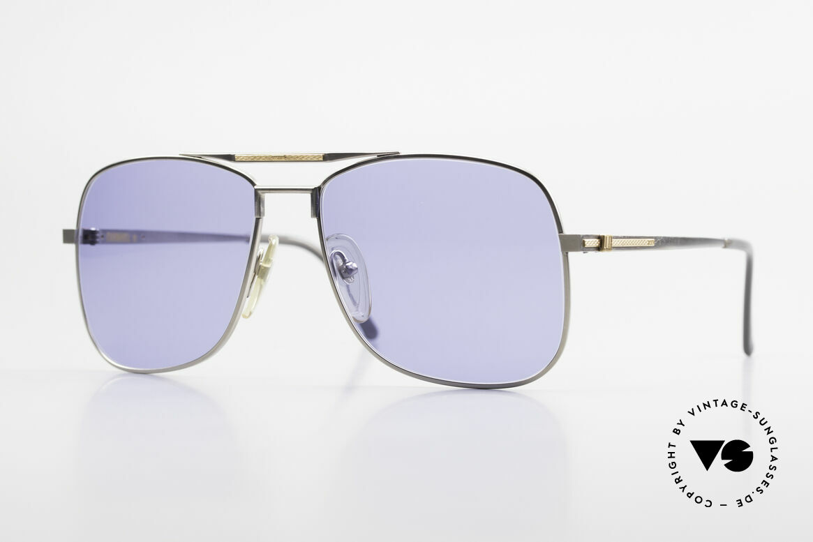 Dunhill 6038 18kt Gold Titanium 80s Shades, A. DUNHILL Titanium shades with 18kt gold ornaments, Made for Men