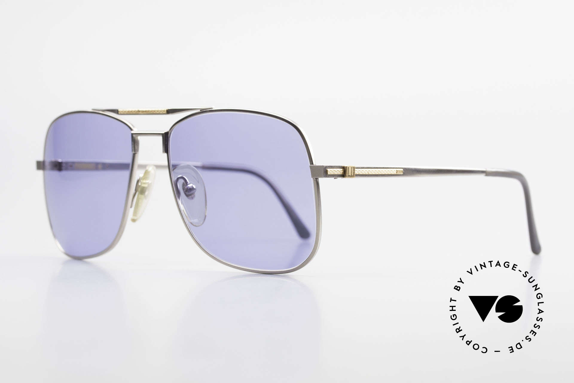 Dunhill 6038 18kt Gold Titanium 80s Shades, manufacturing costs in 1986 = 120,- DM (app. 75 USD), Made for Men