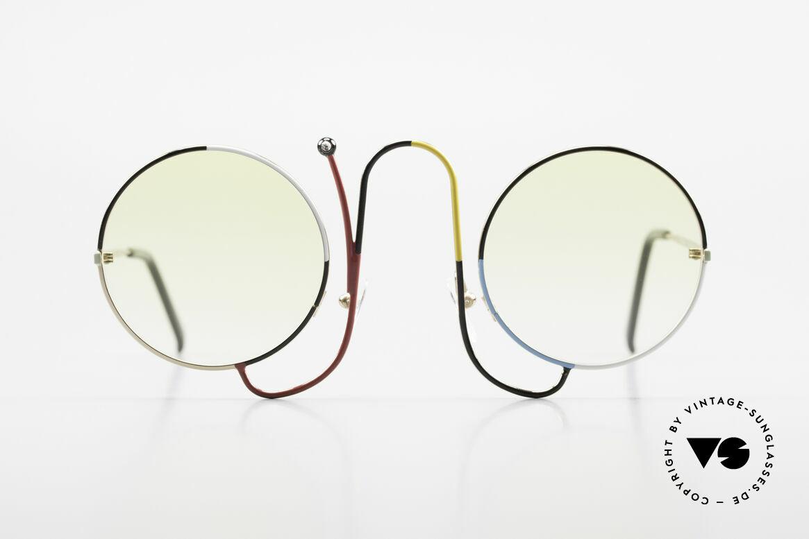 Casanova CMR 1 Rare Vintage Art Sunglasses, light tinted lenses (also wearable at dusk / at night), Made for Women