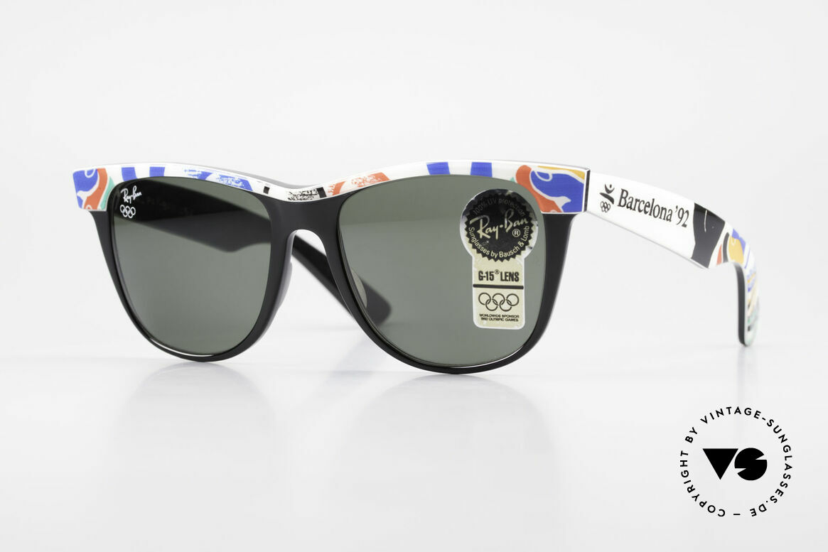 Ray Ban Wayfarer II Olympic Games 1992 Barcelona, official Olympic Games sunglasses by Ray-Ban; B&L, Made for Men and Women