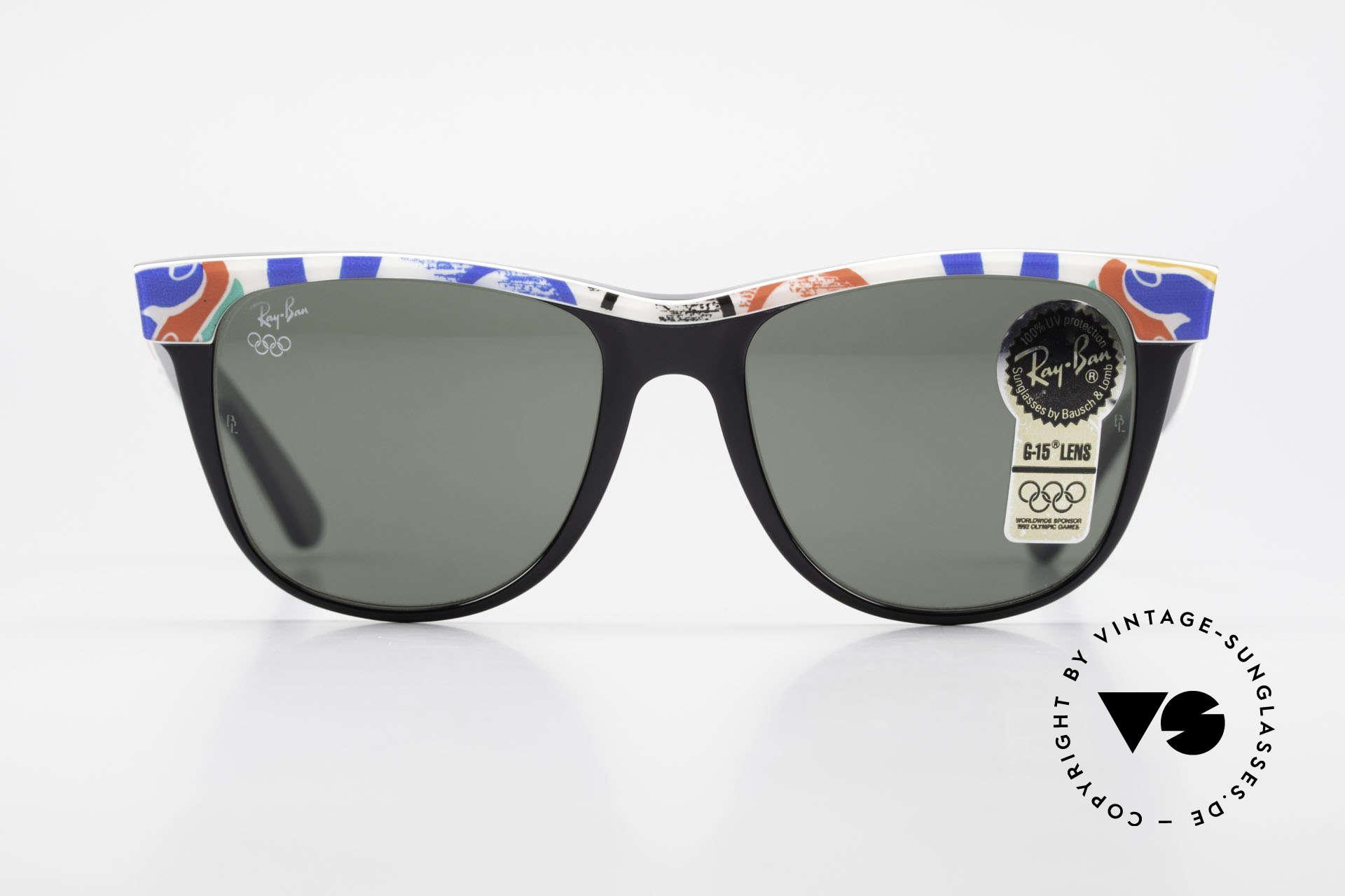 Ray Ban Wayfarer II Olympic Games 1992 Barcelona, limited Bausch&Lomb vintage Wayfarer sunglasses, Made for Men and Women