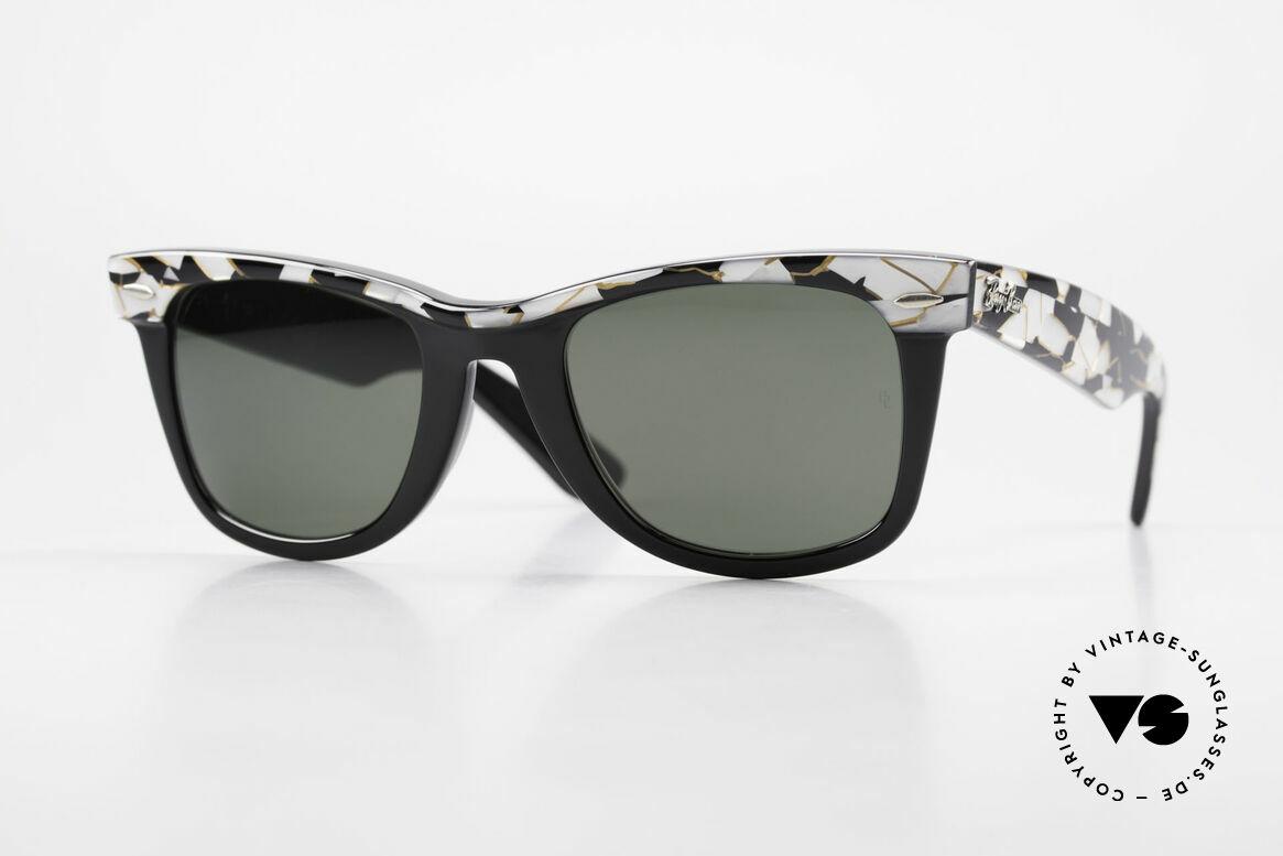 Ray Ban Wayfarer I Original Mosaic Wayfarer 80's, vintage Ray Ban Wayfarer sunglasses 'made in USA', Made for Men and Women