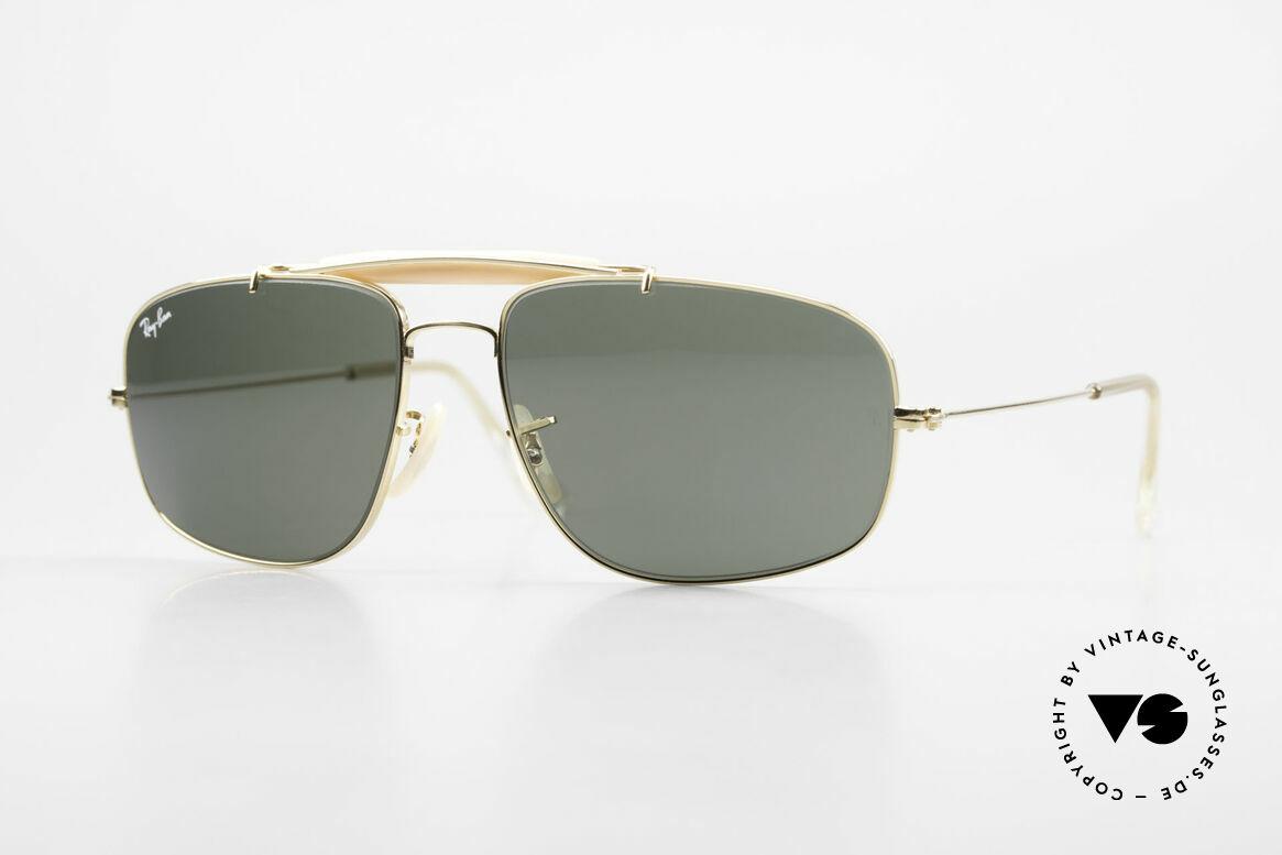 Ray Ban Explorer Browbar Old Ray Ban Made in USA B&L, old 80's Ray-Ban USA B&L vintage sunglasses, Made for Men