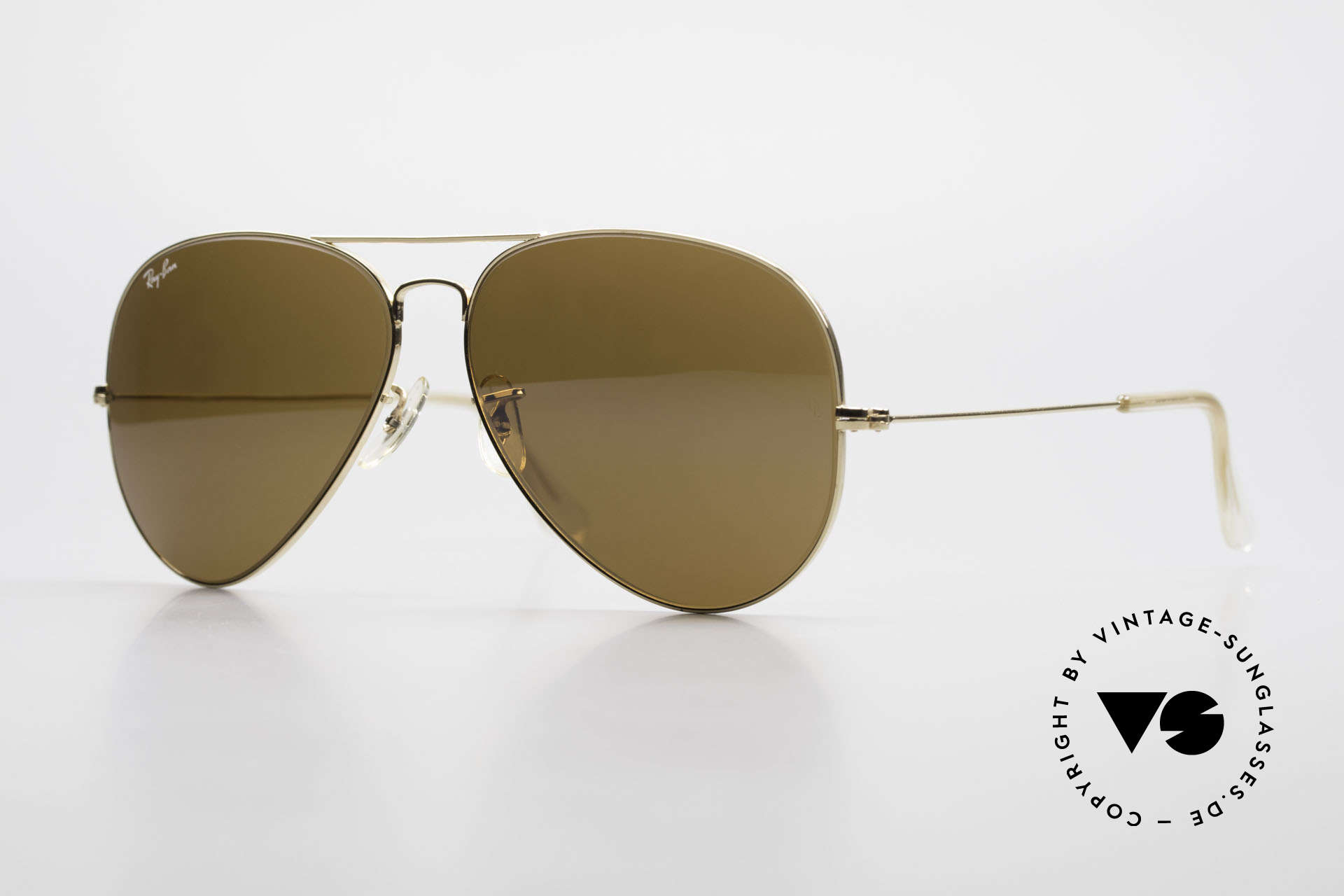 Ray Ban Large Metal II Old Ray-Ban B&L USA Shades, the classic Ray Ban USA sunglasses par excellence, Made for Men
