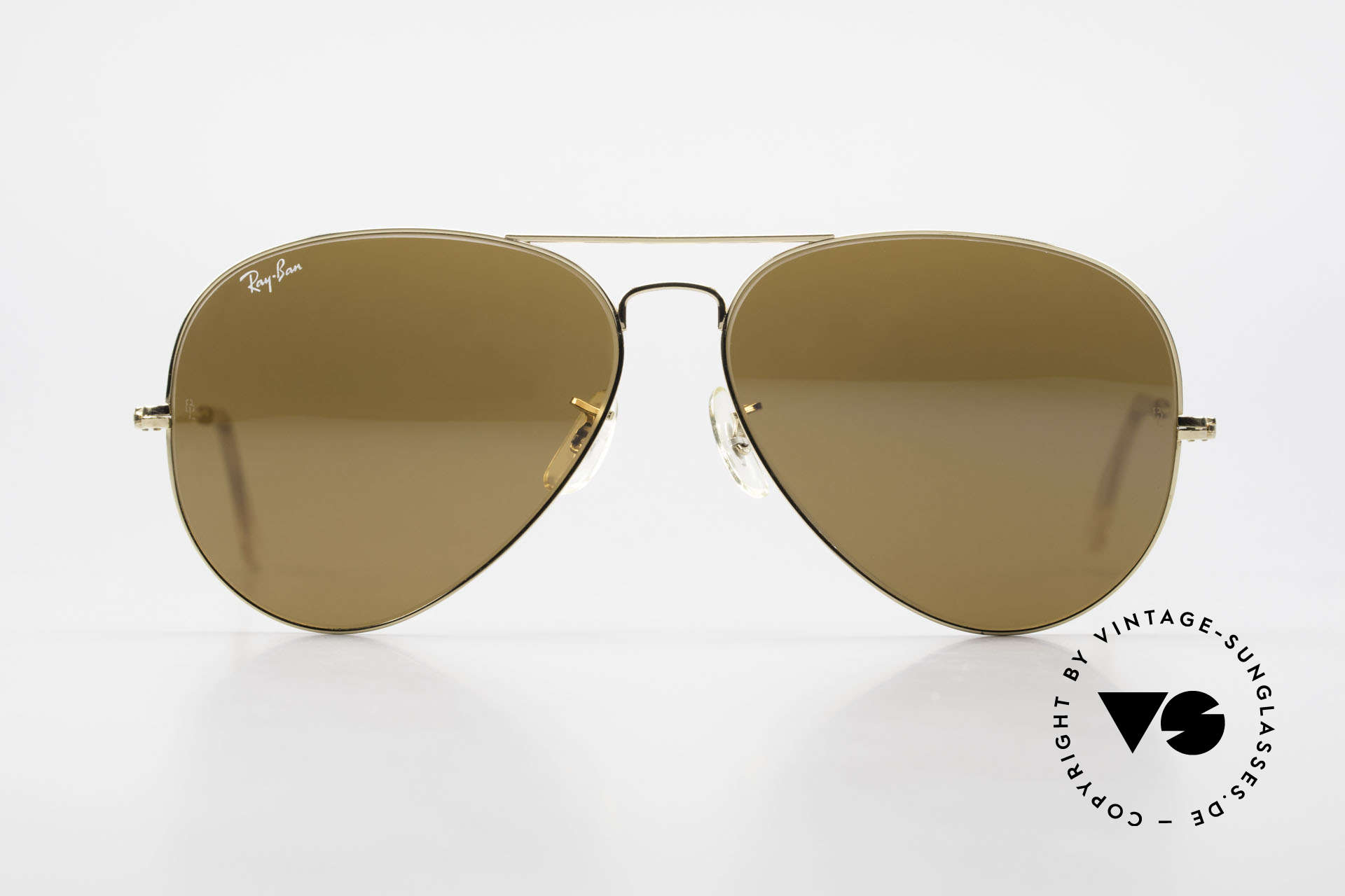 Ray Ban Large Metal II Old Ray-Ban B&L USA Shades, legendary aviator design in best quality (high-end), Made for Men