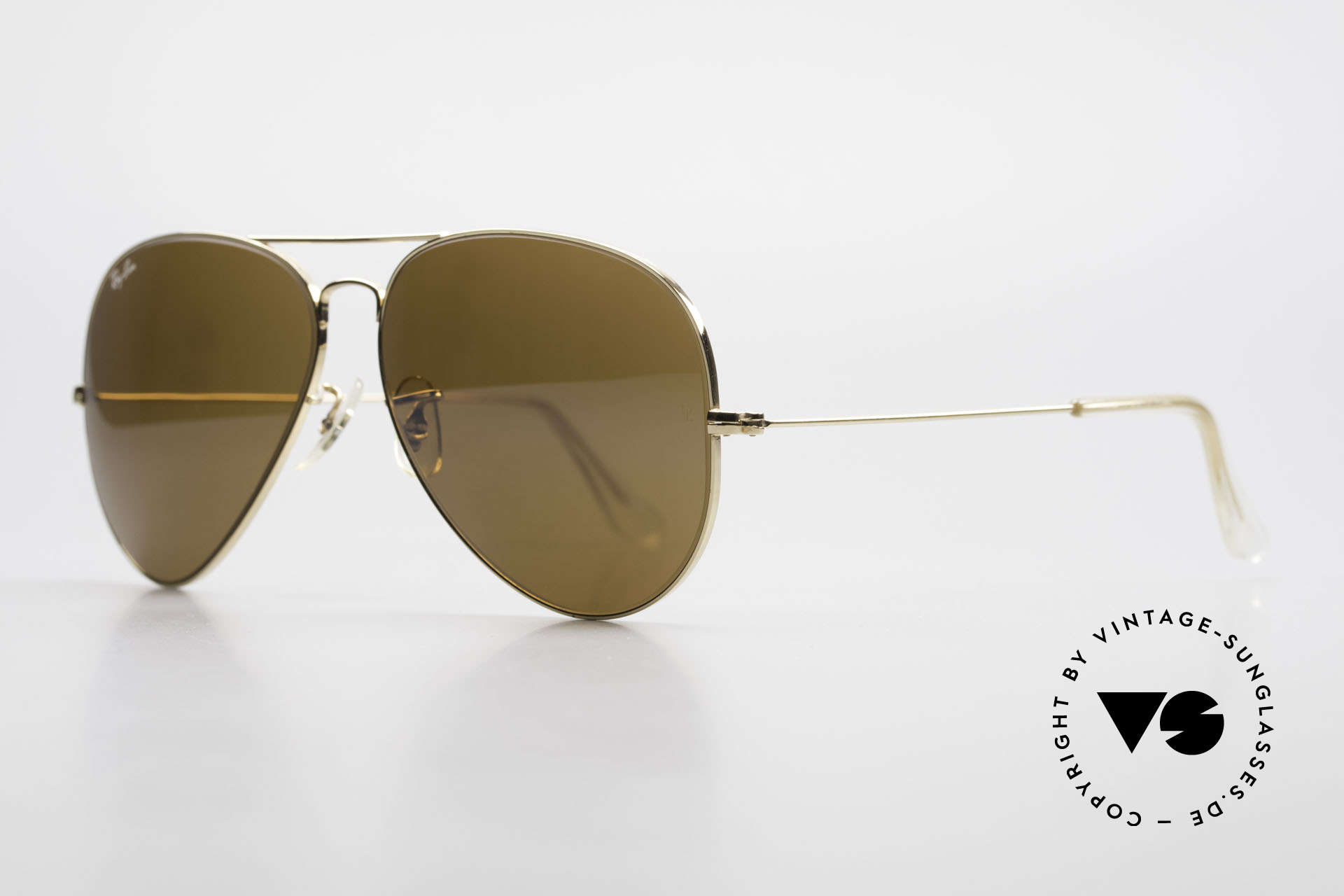 Ray Ban Large Metal II Old Ray-Ban B&L USA Shades, made in the 70's and 80's by Bausch&Lomb, U.S.A., Made for Men