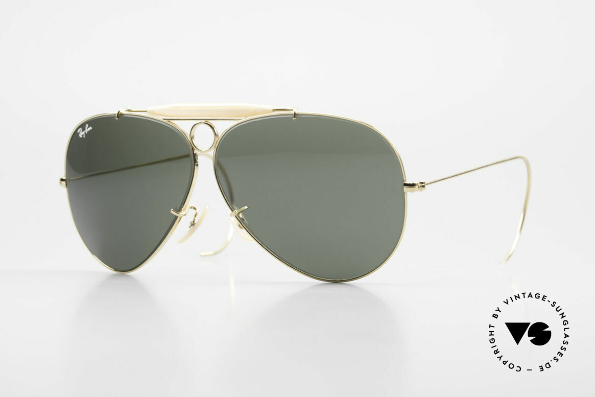 Ray Ban Shooter Sport Sunglass Classic Made in USA, vintage Ray-Ban aviator sunglasses of the 1980's, Made for Men