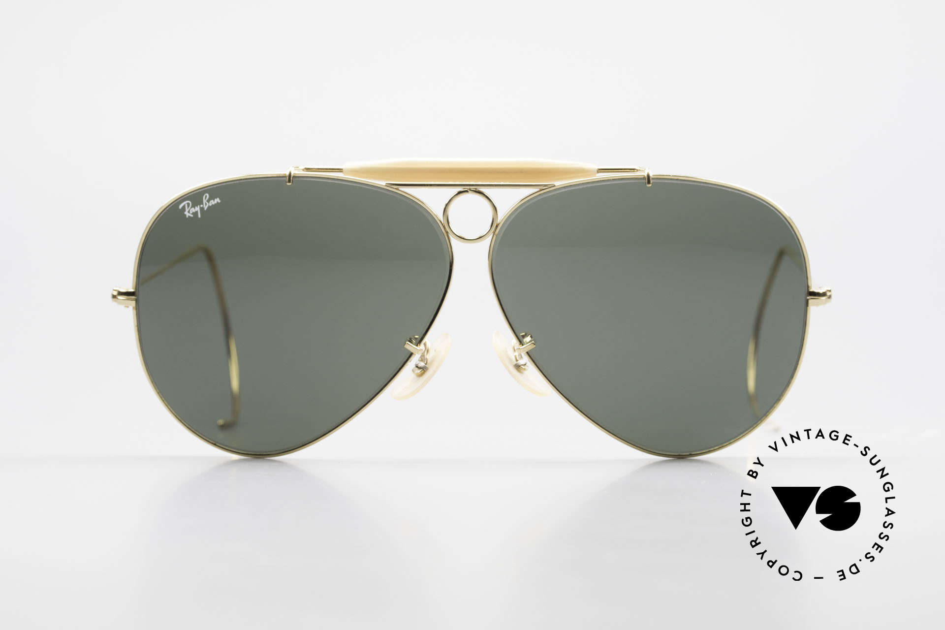 Ray Ban Shooter Sport Sunglass Classic Made in USA, the sunglass classic par excellence in 62mm size, Made for Men