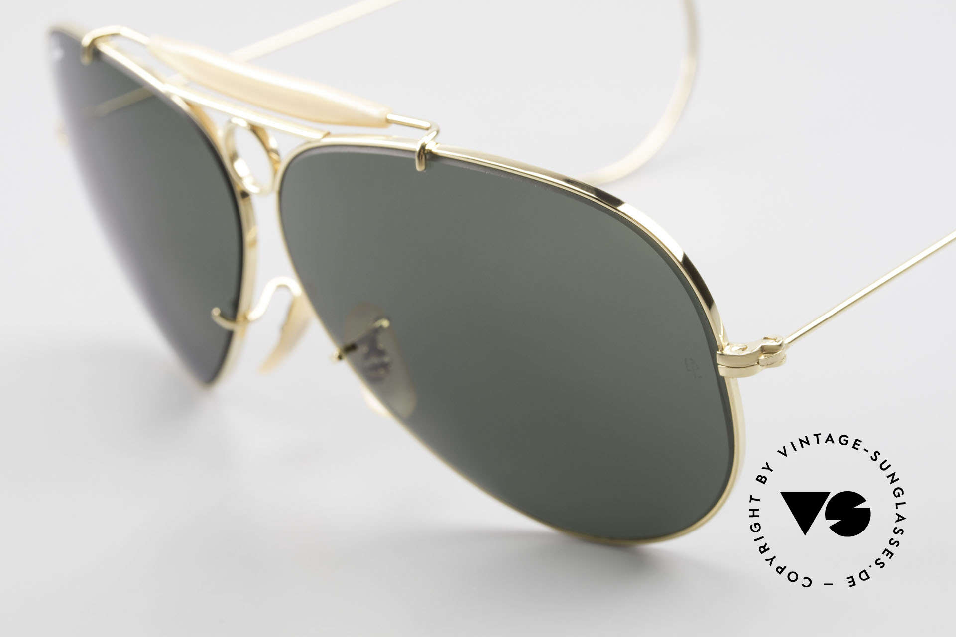 Ray Ban Shooter Sport Sunglass Classic Made in USA, scratch-resistant G15 B&L mineral lenses; 100% UV, Made for Men