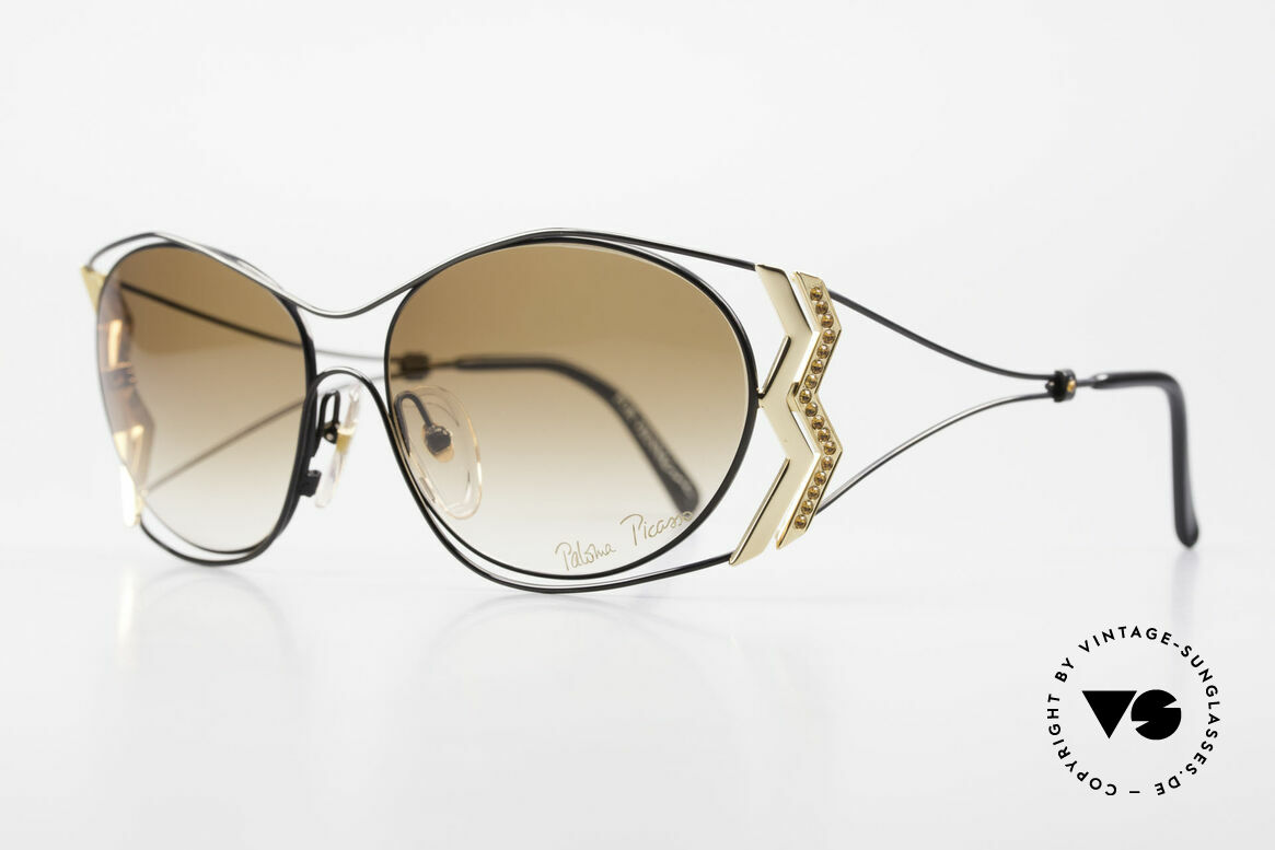 Paloma Picasso 3707 90s Ladies Shades Rhinestones, probably the most beautiful vintage model by Picasso, Made for Women