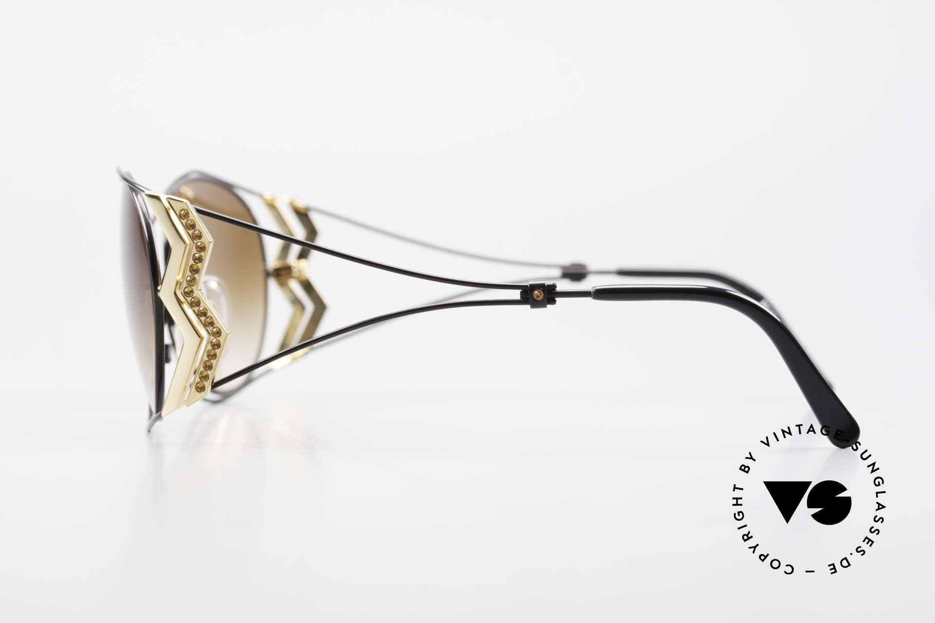 Paloma Picasso 3707 90s Ladies Shades Rhinestones, gentrified metal frame with shiny rhinestone appliqué, Made for Women
