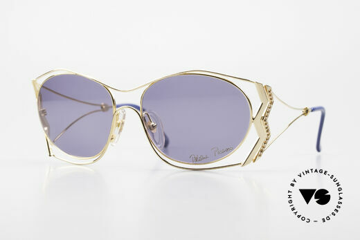 Paloma Picasso 3707 90's Sunglasses Gold-Plated Details