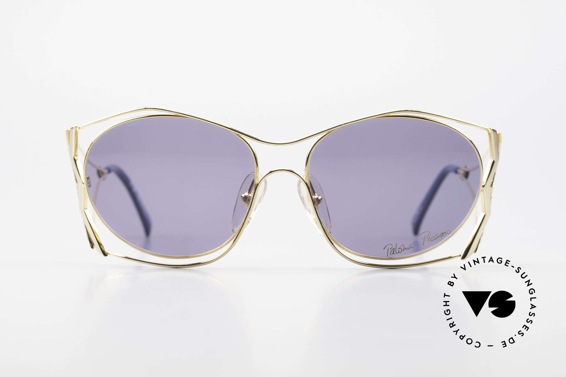 Paloma Picasso 3707 90's Sunglasses Gold-Plated, playful and elegant at the same time; just glamorous, Made for Women