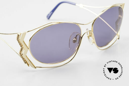 Paloma Picasso 3707 90's Sunglasses Gold-Plated, NO retro sunglasses; a unique authentic 90's original, Made for Women