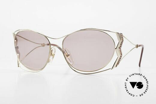 Paloma Picasso 3707 90's Sunglasses Rhinestones Details