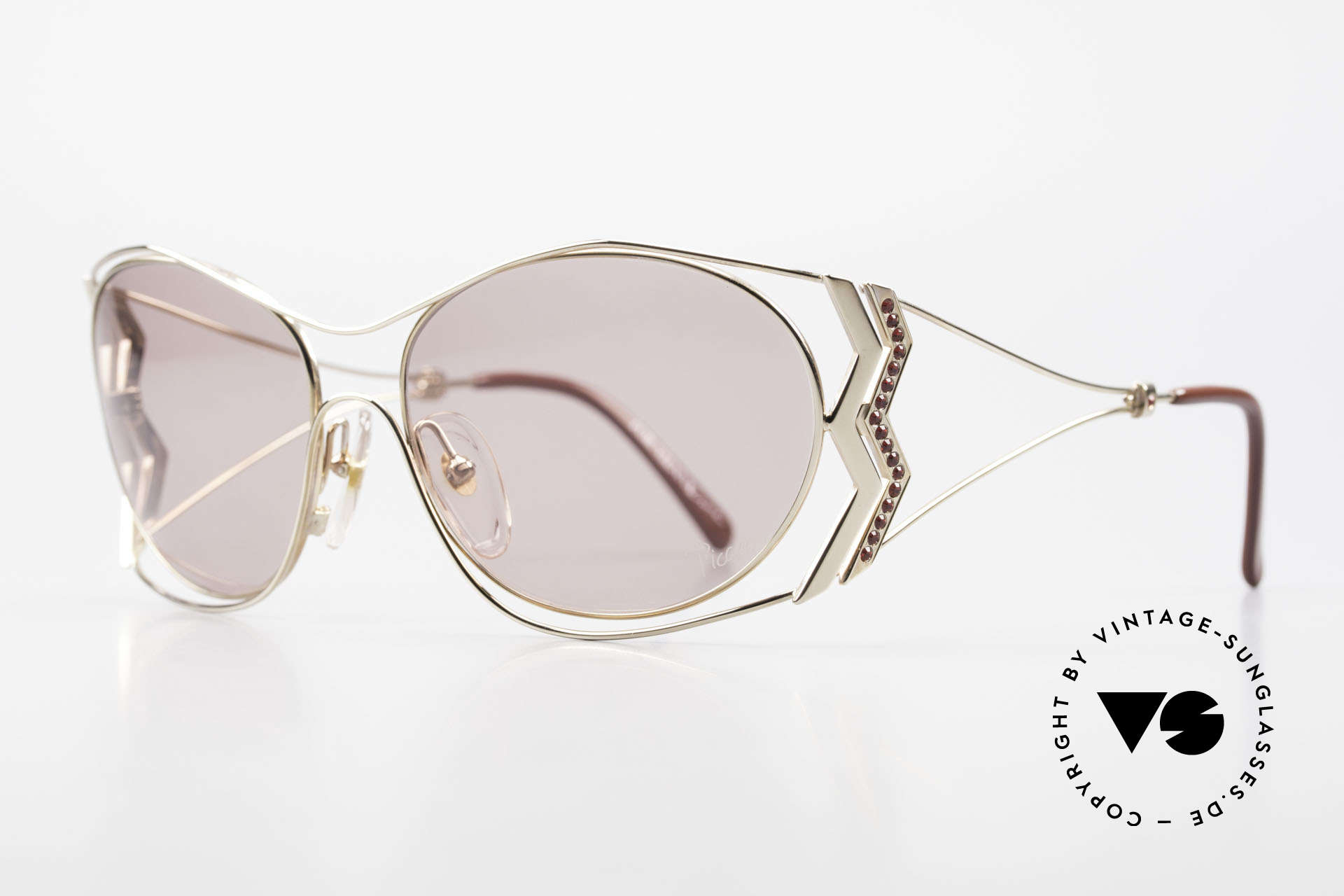Paloma Picasso 3707 90's Sunglasses Rhinestones, probably the most beautiful vintage model by Picasso, Made for Women