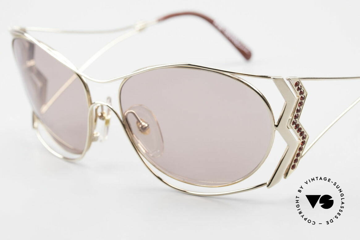 Paloma Picasso 3707 90's Sunglasses Rhinestones, unworn model, NOS (with original case by P. Picasso), Made for Women
