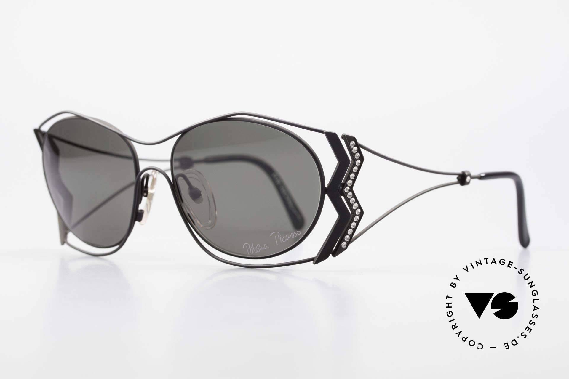 Paloma Picasso 3707 90s Shades Crystal Rhinestones, probably the most beautiful vintage model by Picasso, Made for Women