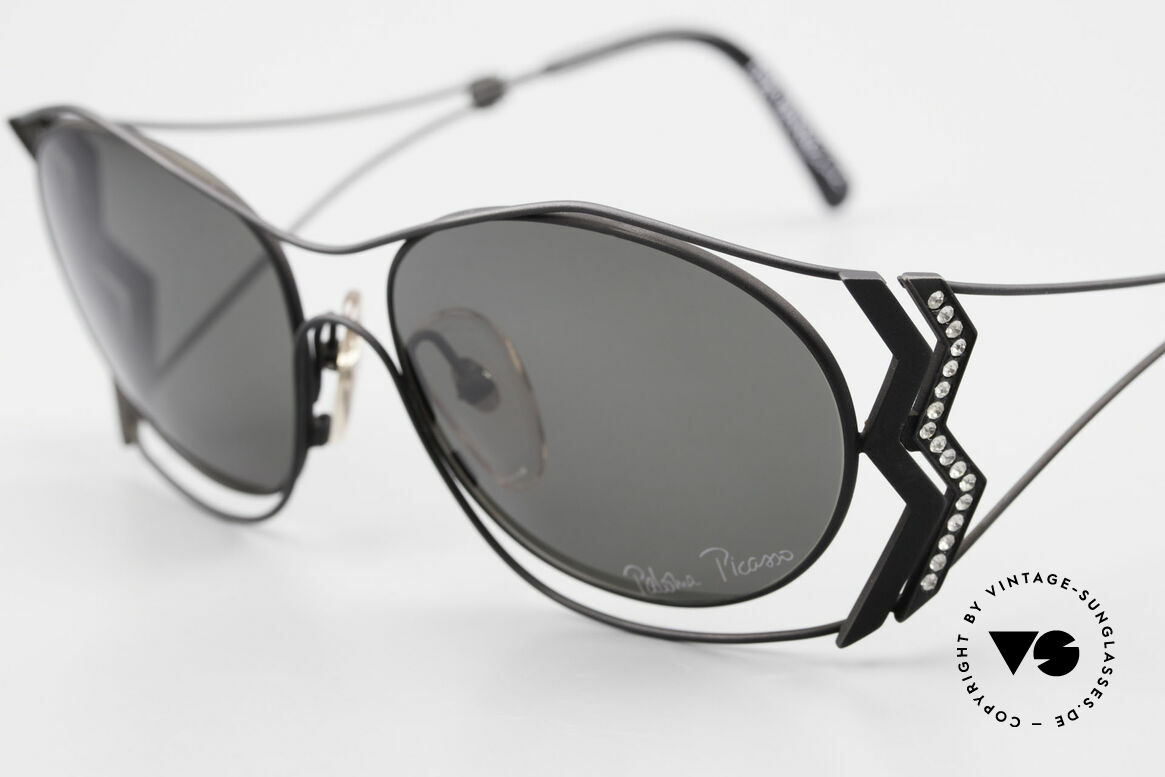 Paloma Picasso 3707 90s Shades Crystal Rhinestones, unworn model, NOS (with original case by P. Picasso), Made for Women