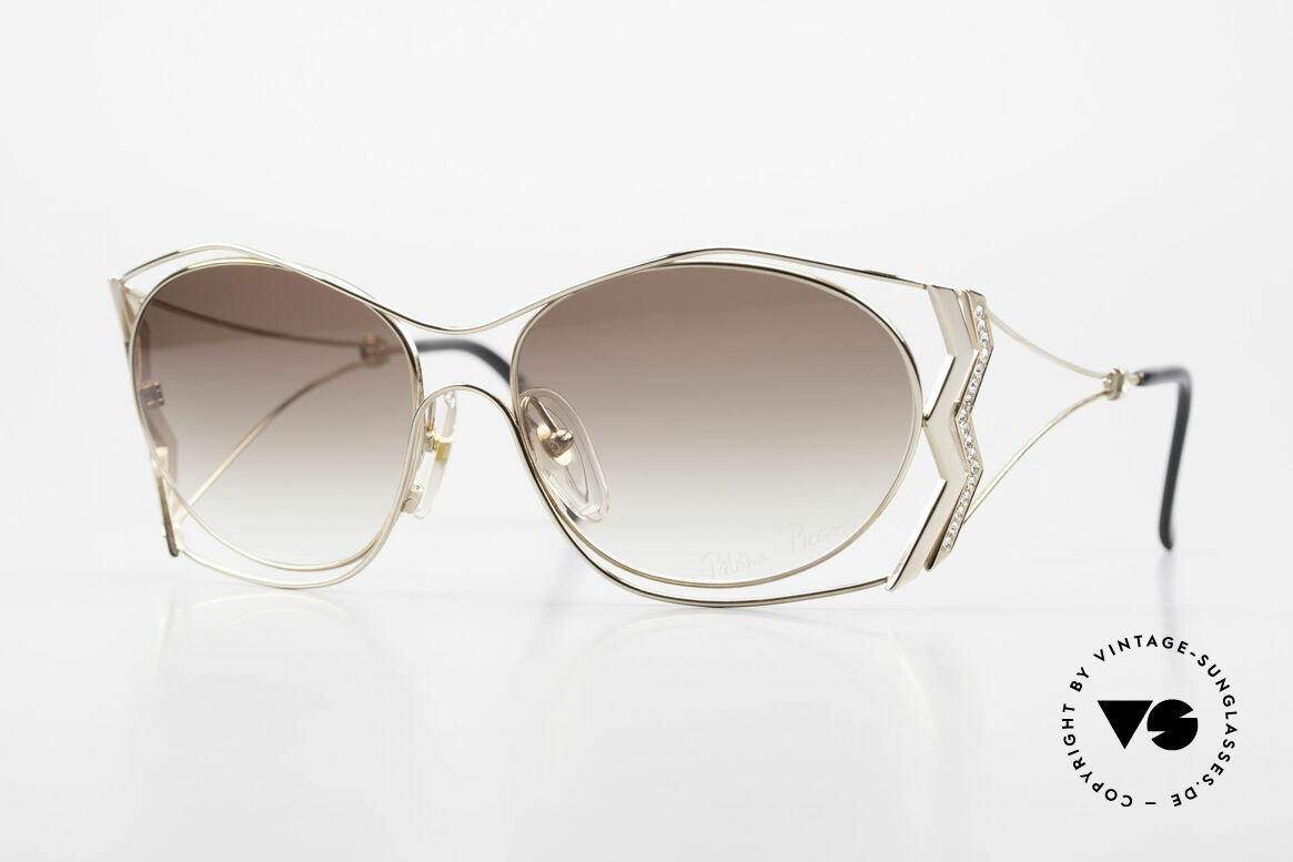 Paloma Picasso 3707 Gold-Plated With Crystal Gems, 90's Picasso shades, gold-plated & with Crystal gems, Made for Women