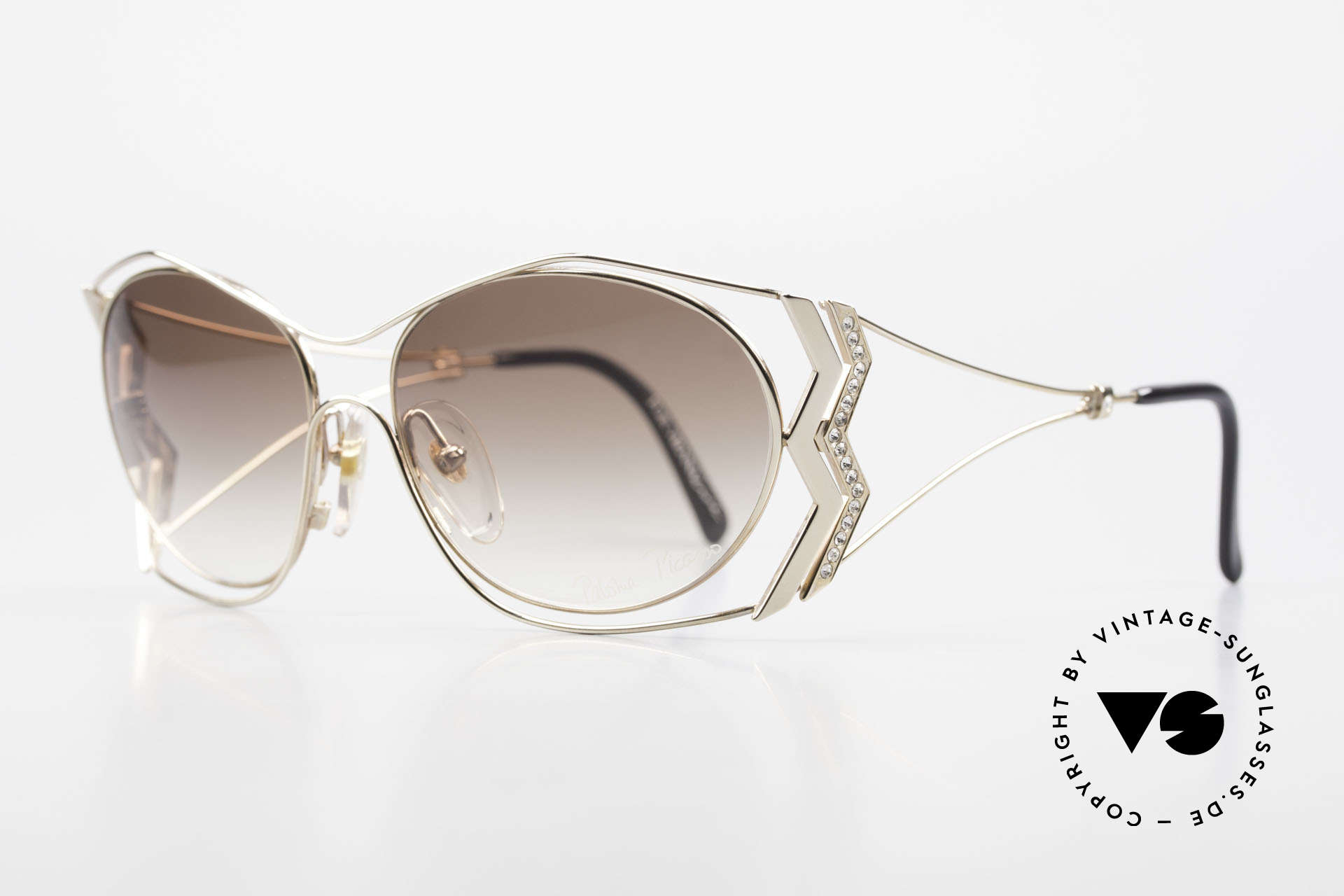 Paloma Picasso 3707 Gold-Plated With Crystal Gems, probably the most beautiful vintage model by Picasso, Made for Women