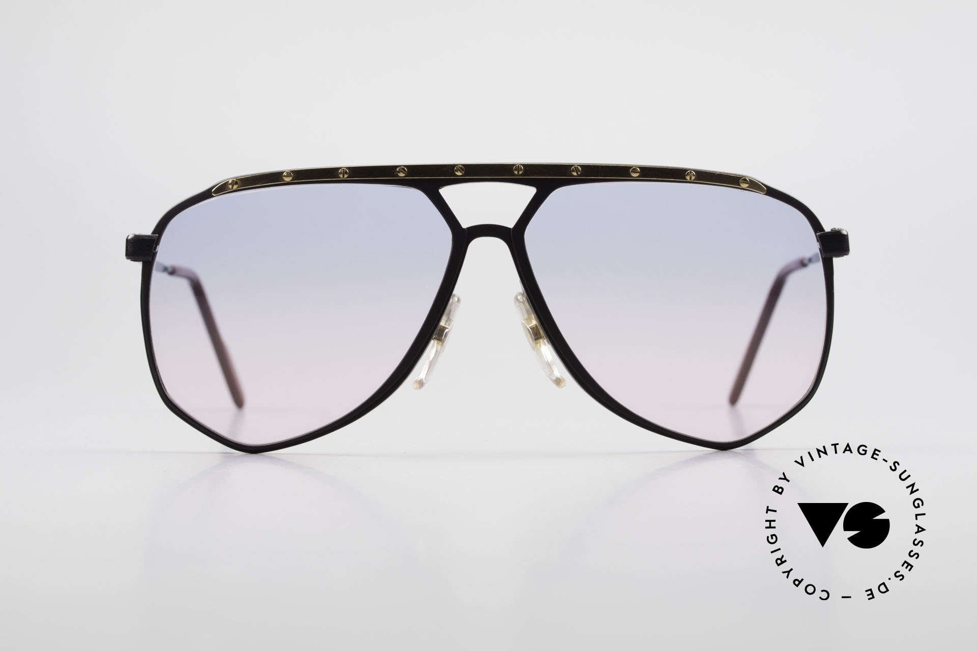 Alpina M1/4 80's Sunglasses Baby-Blue Pink, also handmade; but produced a bit later (1989/1990), Made for Men