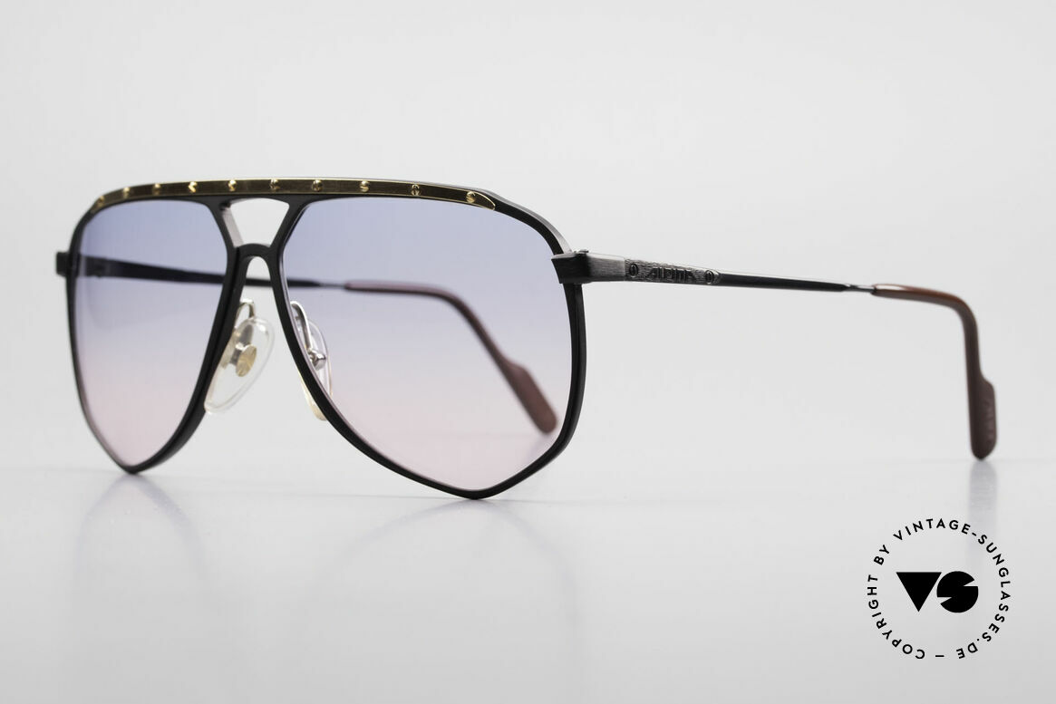 Alpina M1/4 80's Sunglasses Baby-Blue Pink, rarity: size 63°14 with baby-blue/pink gradient lenses, Made for Men