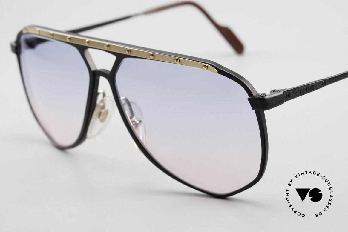 Alpina M1/4 80's Sunglasses Baby-Blue Pink, new old stock; like all our vintage Alpina sunglasses, Made for Men