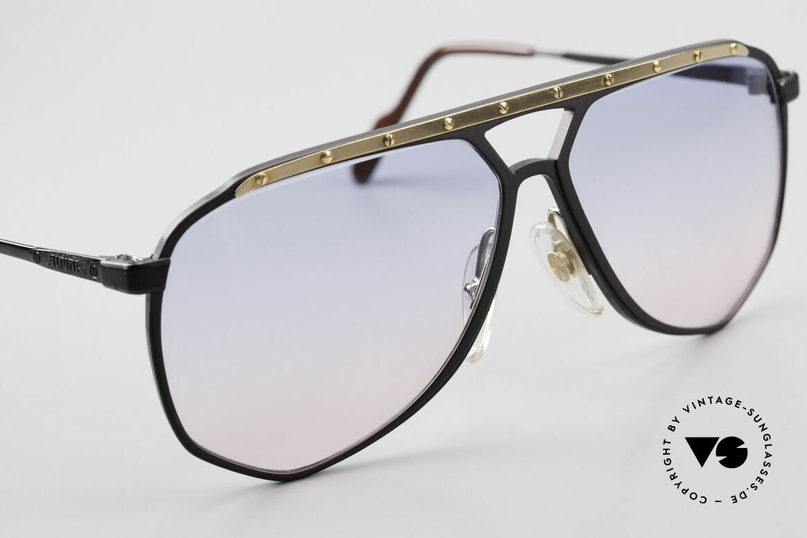 Alpina M1/4 80's Sunglasses Baby-Blue Pink, NO RETRO specs, but a 30 years old design ORIGINAL, Made for Men