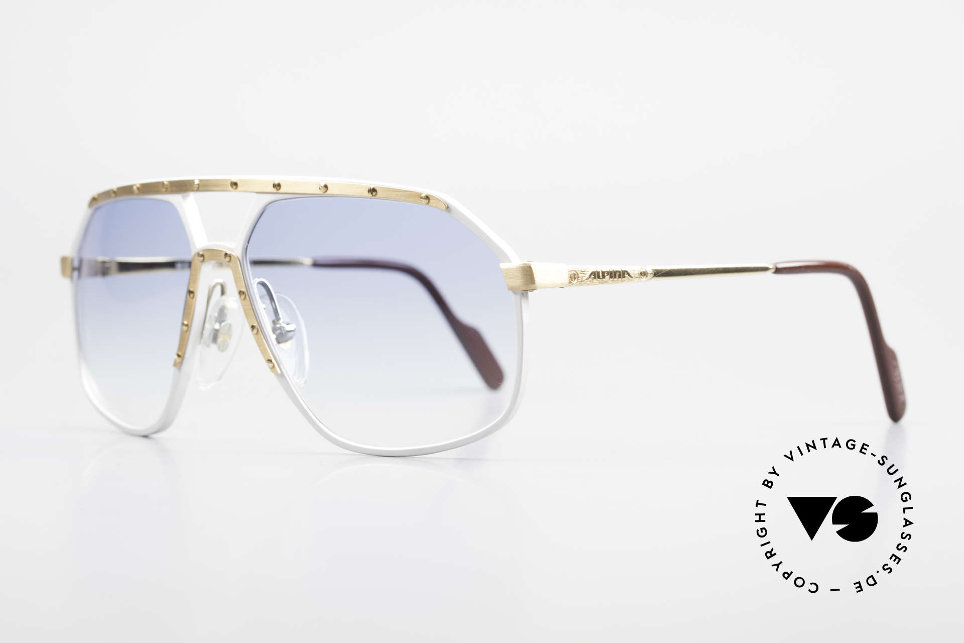 Alpina M6 Iconic 80's Sunglass Classic, famous for the 'W.Germany' frame and the screws, Made for Men