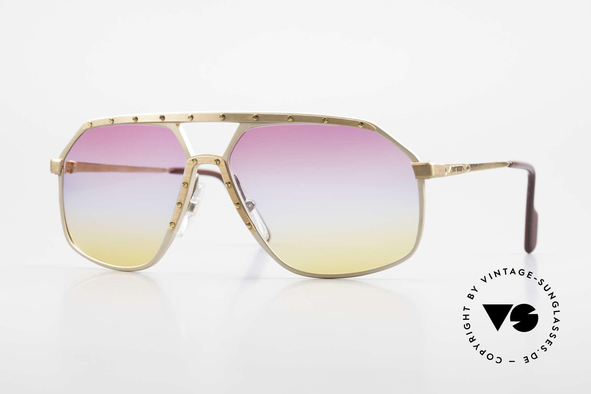 Alpina M6 Iconic 80's Shades Tricolored, Alpina M6 vintage shades with tricolored lenses, Made for Men and Women