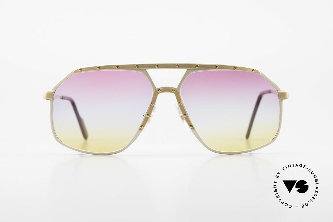 Alpina M6 Iconic 80's Shades Tricolored, a precious old 80's original in medium size 60-14, Made for Men and Women