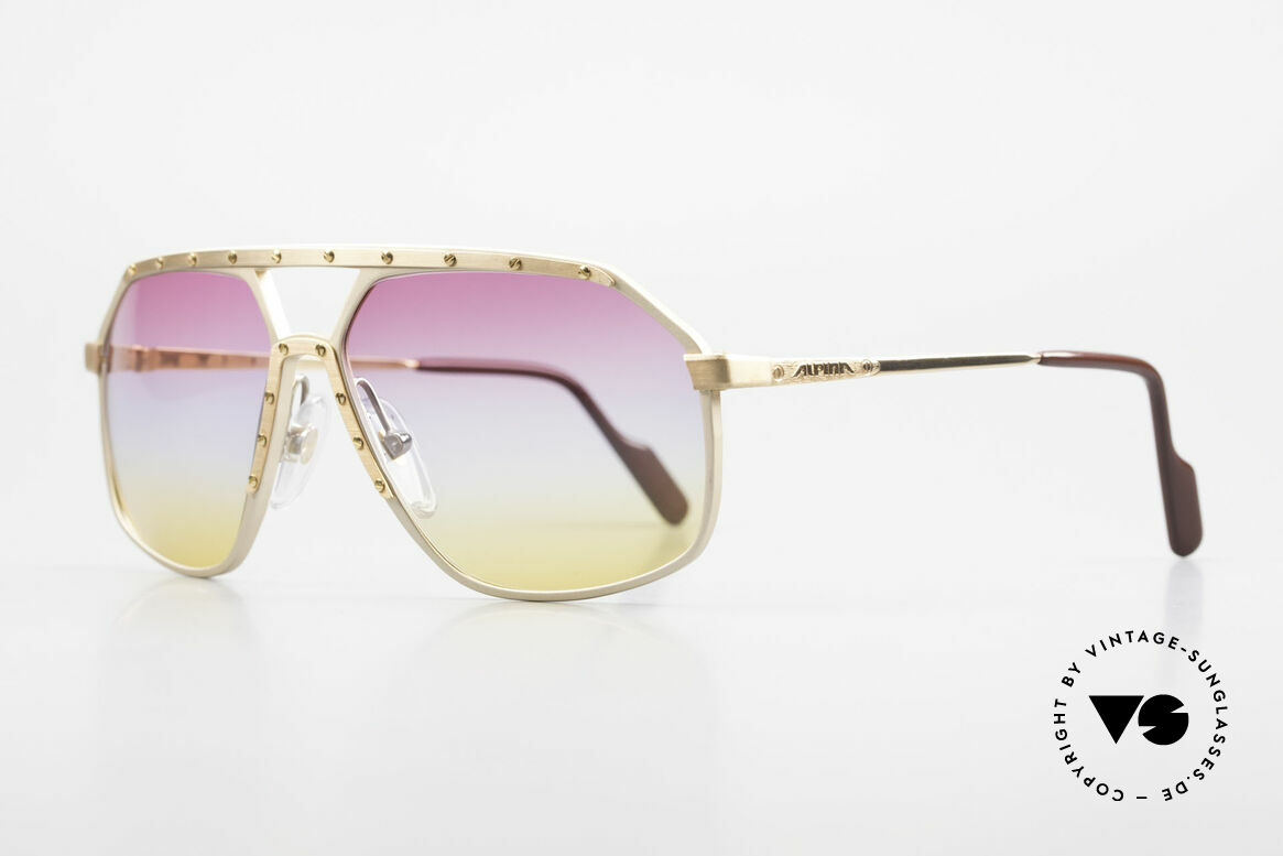 Alpina M6 Iconic 80's Shades Tricolored, famous for the 'W.Germany' frame and the screws, Made for Men and Women