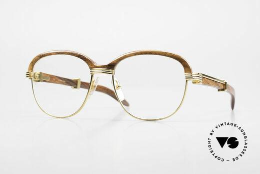 Cartier Malmaison Diego Maradona Wood Glasses Details