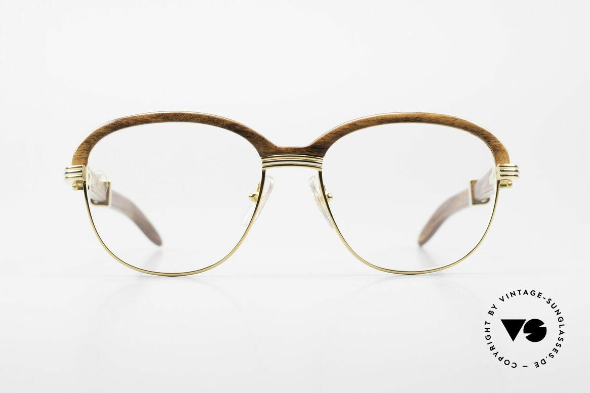 Cartier Malmaison Diego Maradona Wood Glasses, worn by Diego A Maradona (football World Cup 1990), Made for Men and Women