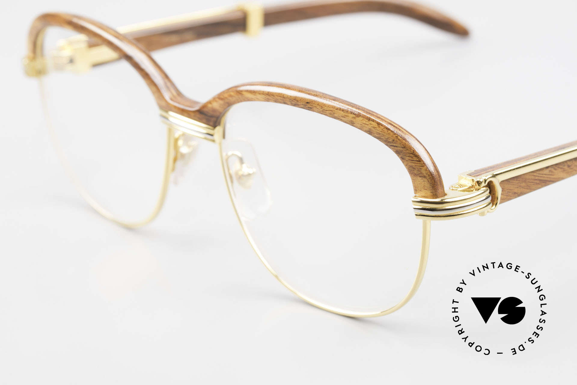 Cartier Malmaison Diego Maradona Wood Glasses, noble rarity in perfect unworn condition; pure luxury, Made for Men and Women