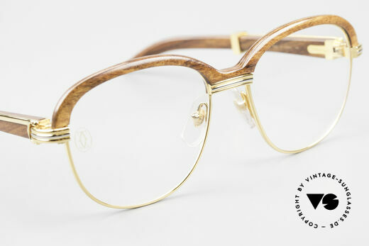 Cartier Malmaison Diego Maradona Wood Glasses, NO retro glasses; but 100% vintage Cartier ORIGINAL, Made for Men and Women