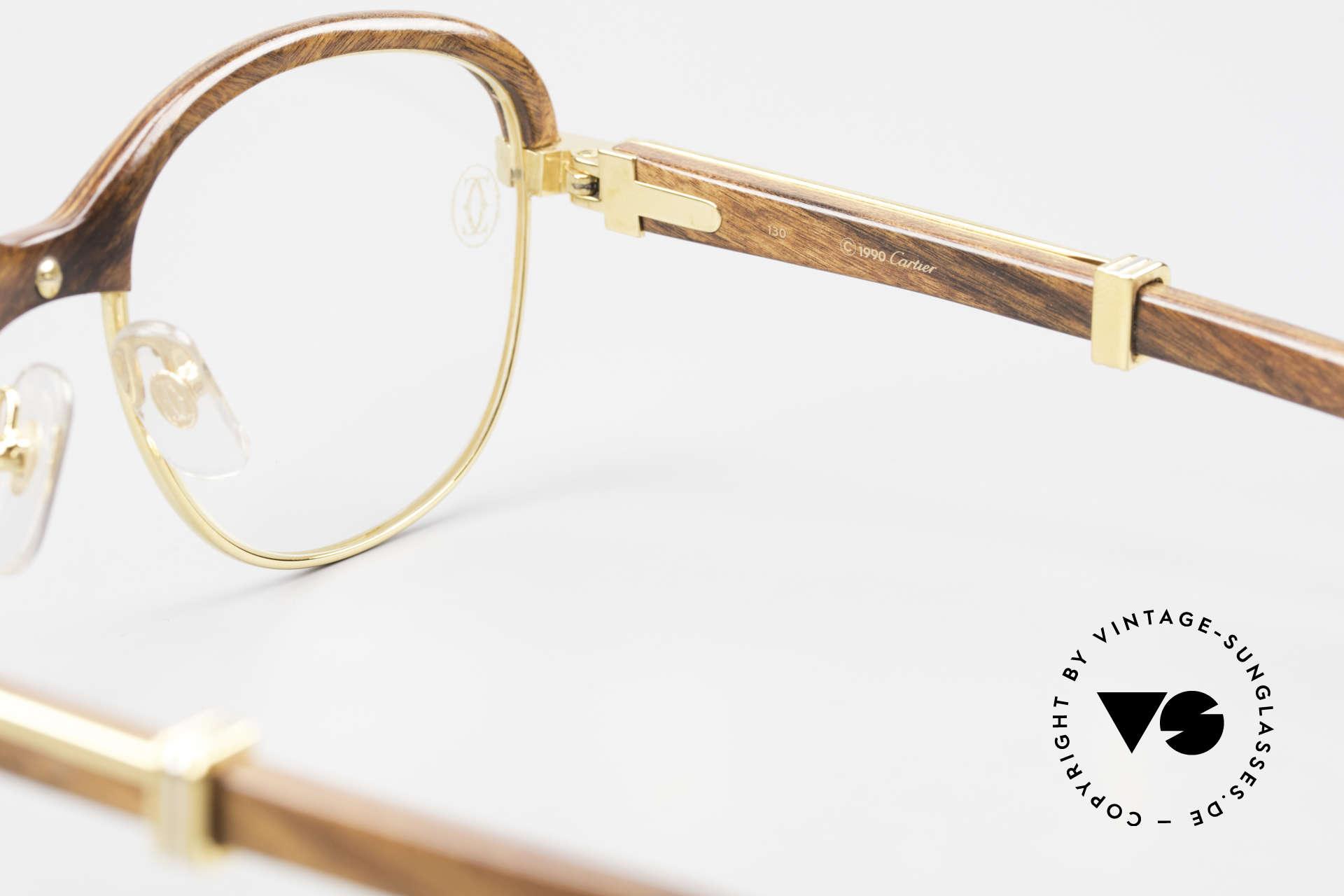 Cartier Malmaison Diego Maradona Wood Glasses, Size: small, Made for Men and Women