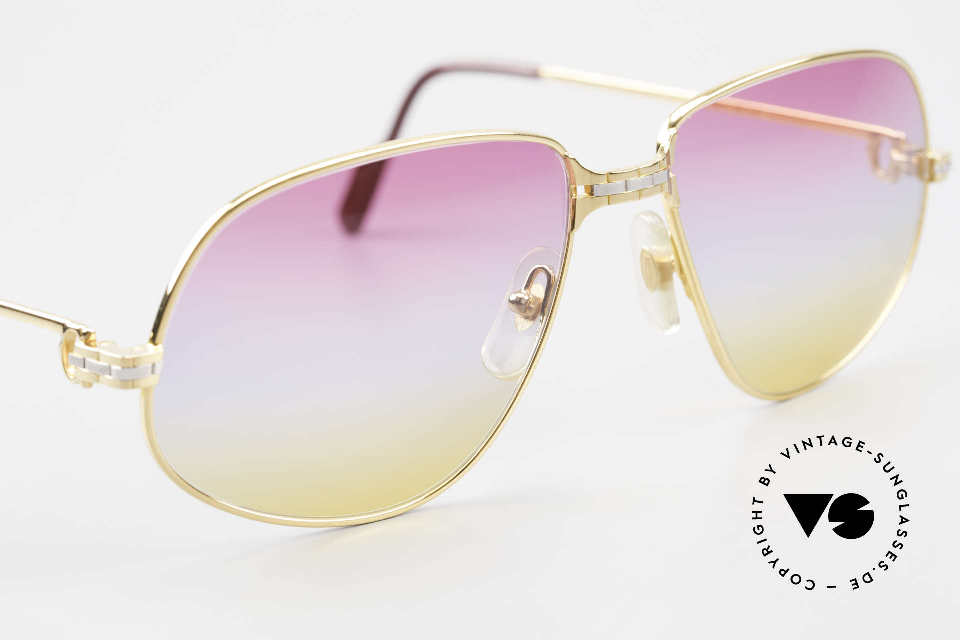 Cartier Panthere G.M. - L Sunrise Lenses & Bvlgari Case, 22ct gold-plated frame with new SUNRISE colored lenses, Made for Men and Women
